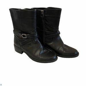 Anne Klein Mid Calf Bootie Black size 6